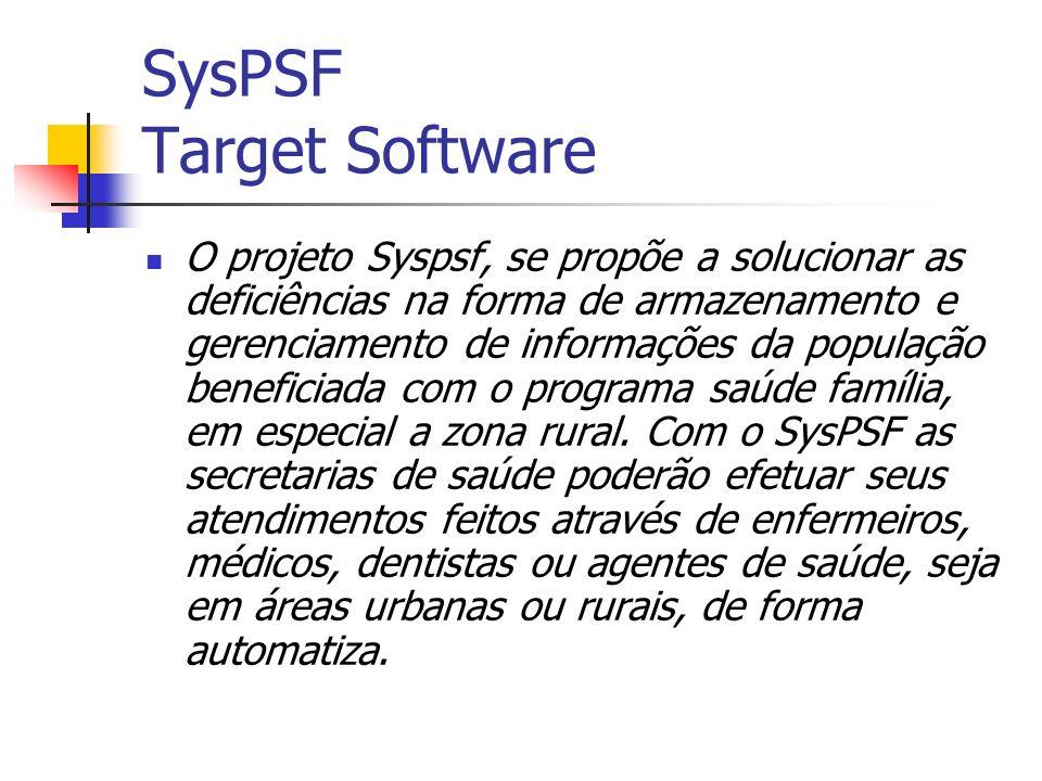 Após a análise do das necessidades, a Target Software, desenvolveu o SysPSF, um sistema que propõe a otimização de todo o processo descrito, ao qual esclareceremos a seguir.