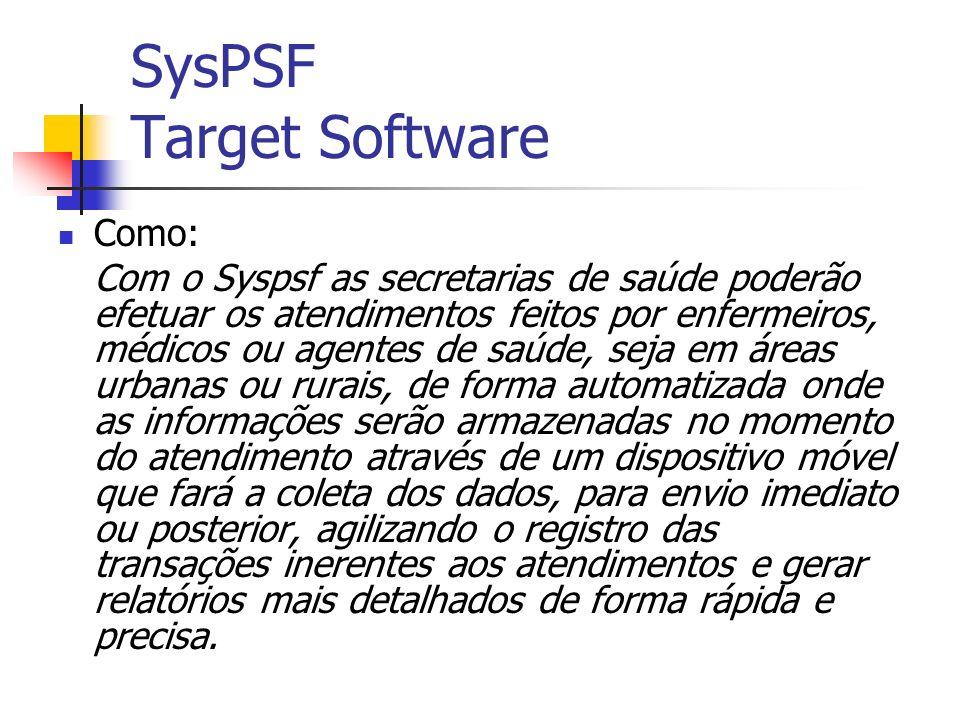Utilização: Com o SysPSF solucionaríamos problemas como: Desperdício de tempo para a elaboração ou envio de relatórios manuais; Ausência de suporte para um histórico familiar.