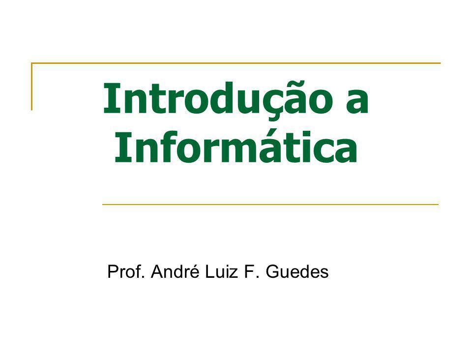 Introdução a Informática Prof. André Luiz F. Guedes