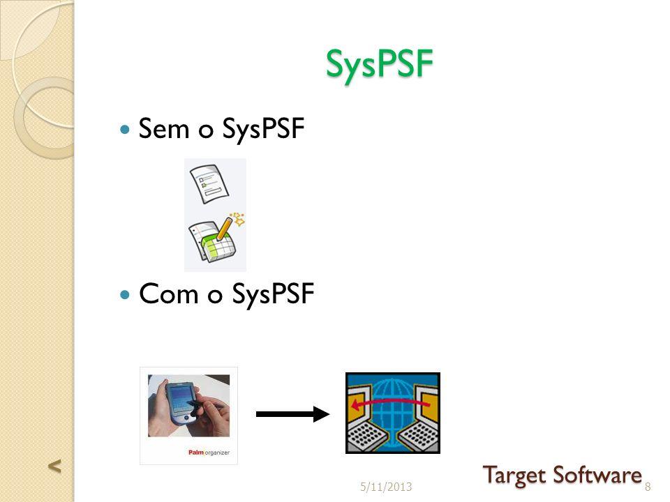 SysPSF Sem o SysPSF Com o SysPSF 85/11/2013 Target Software <<<<