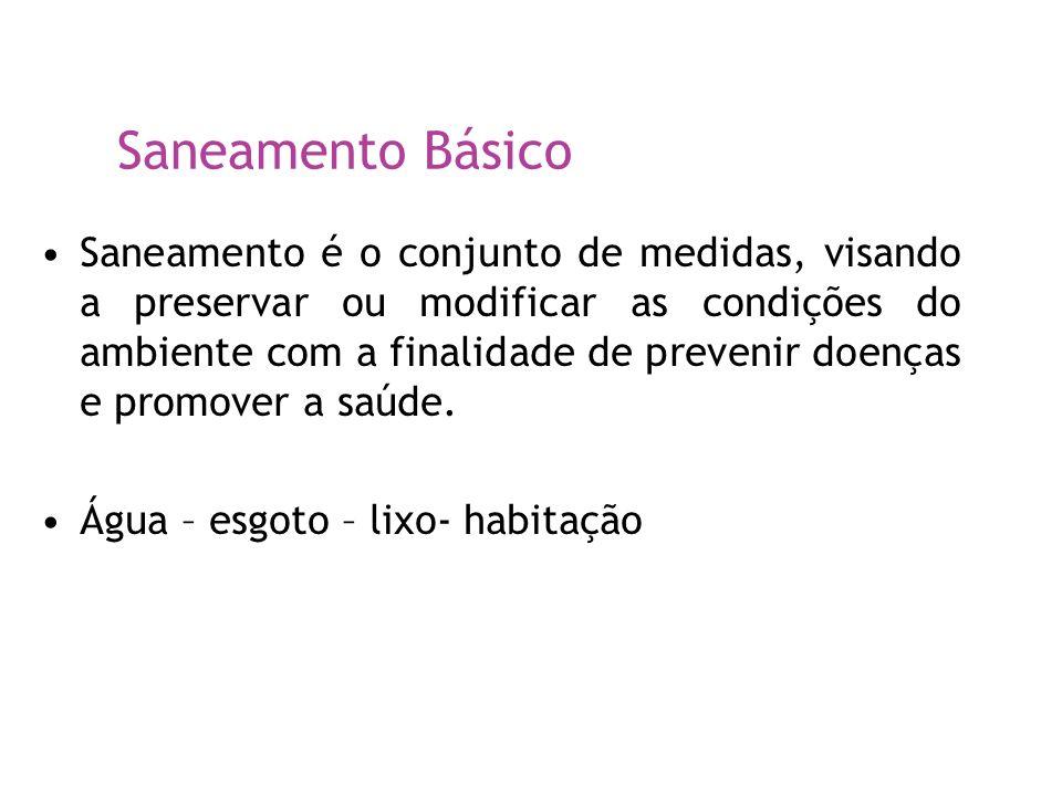 Dados 65% das internações hospitalares de crianças menores de 10 anos estão associadas à falta de saneamento básico (BNDES, 1998) A falta de saneamento básico é a principal responsável pela morte por diarréia de menores de 5 anos no Brasil (Jornal Folha de São Paulo - FSP, 17/dez/99) As doenças decorrentes da falta de saneamento básico mataram, em 1998, mais pessoas do que a AIDS (FSP, 16/jul/00) Por que as crianças??