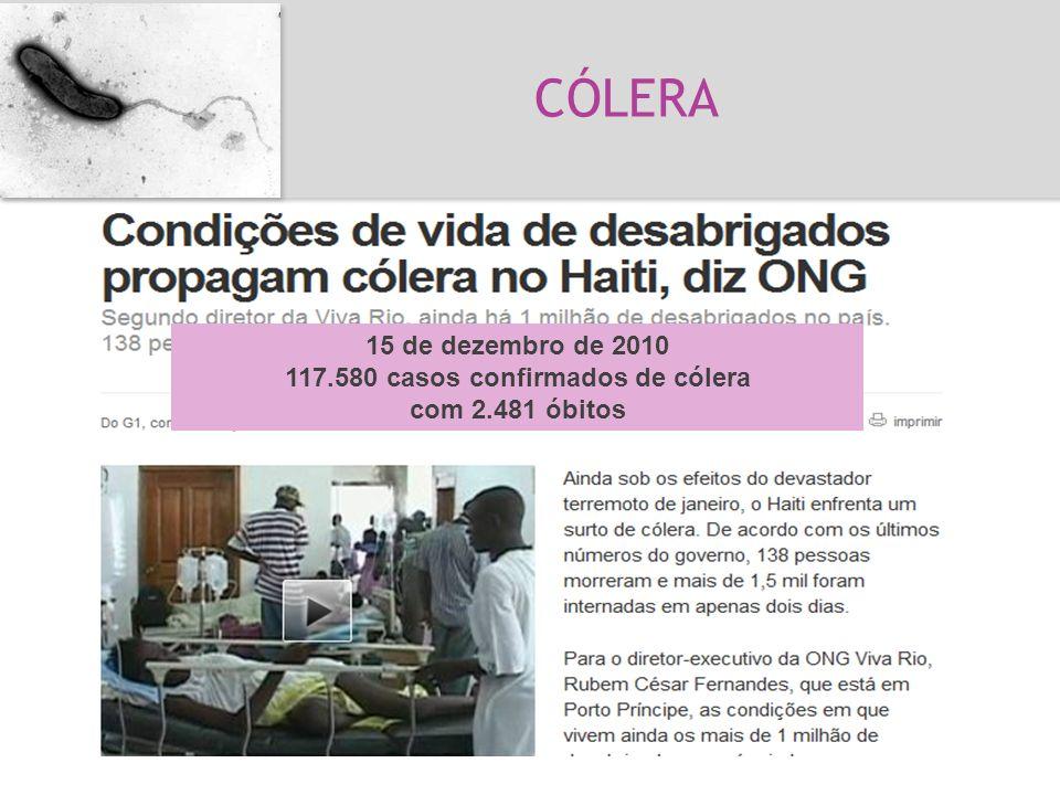 Cólera Vibrio cholerae *Toxina Bactéria, Gram - Doença de humanos, não tem animais reservatórios 7 pandemias desde século 19 15 de dezembro de 2010 11