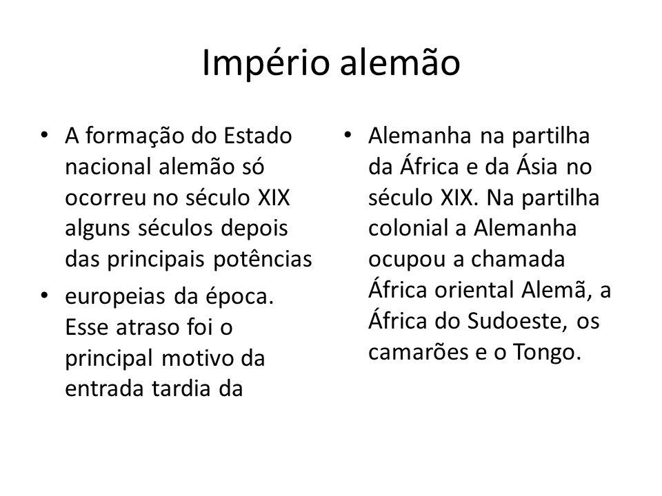 Império Francês A política imperialista francesa se iniciou em 1830 com a conquista da Argélia, no norte da África.