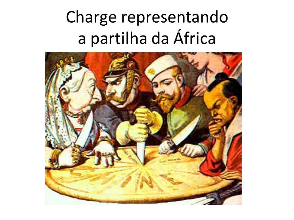 Charge representando a partilha da África