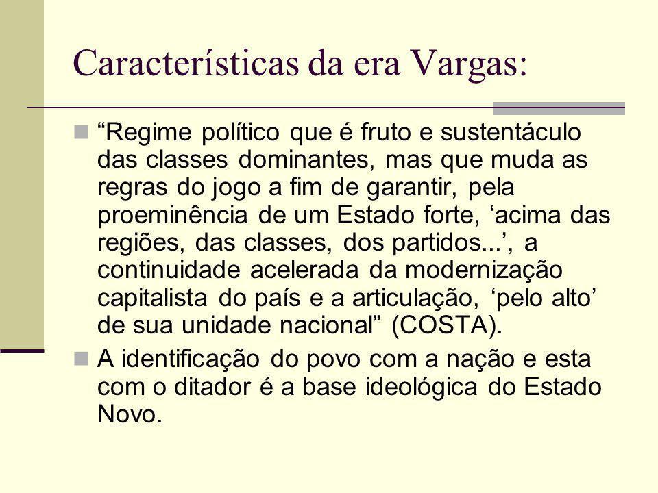 Era Vargas (1930-37 e o Estado Novo): 1932 – Movimento constitucionalista (SP).