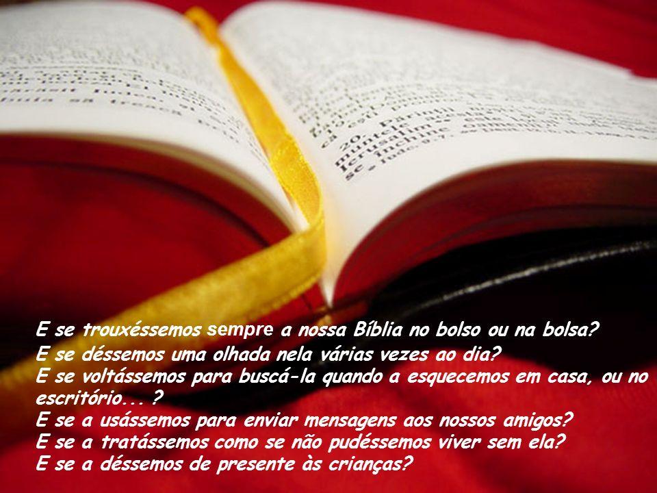 Já imaginaste o que aconteceria se tratássemos a nossa Bíblia do mesmo modo que tratamos o nosso Telemóvel?