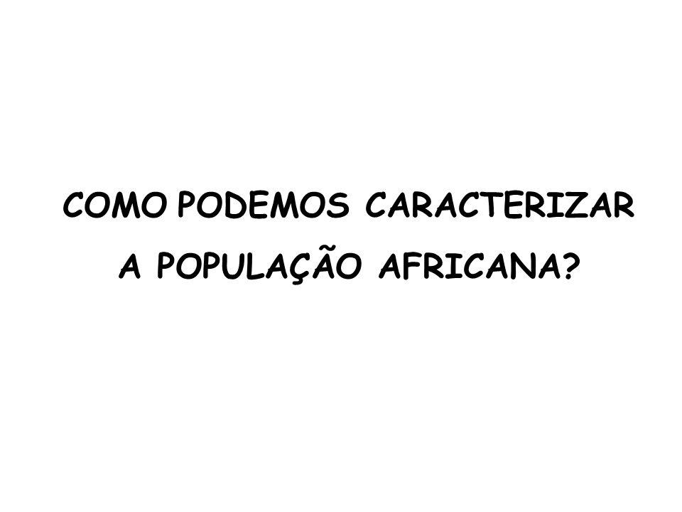 COMO PODEMOS CARACTERIZAR A POPULAÇÃO AFRICANA?