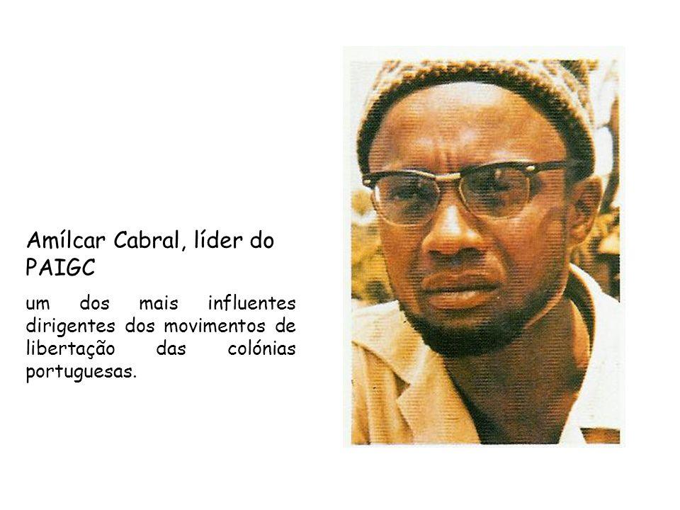 Amílcar Cabral, líder do PAIGC um dos mais influentes dirigentes dos movimentos de libertação das colónias portuguesas.