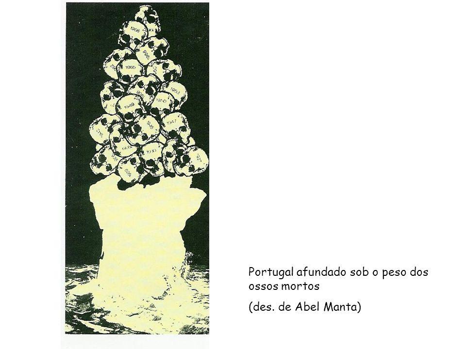 Portugal afundado sob o peso dos ossos mortos (des. de Abel Manta)