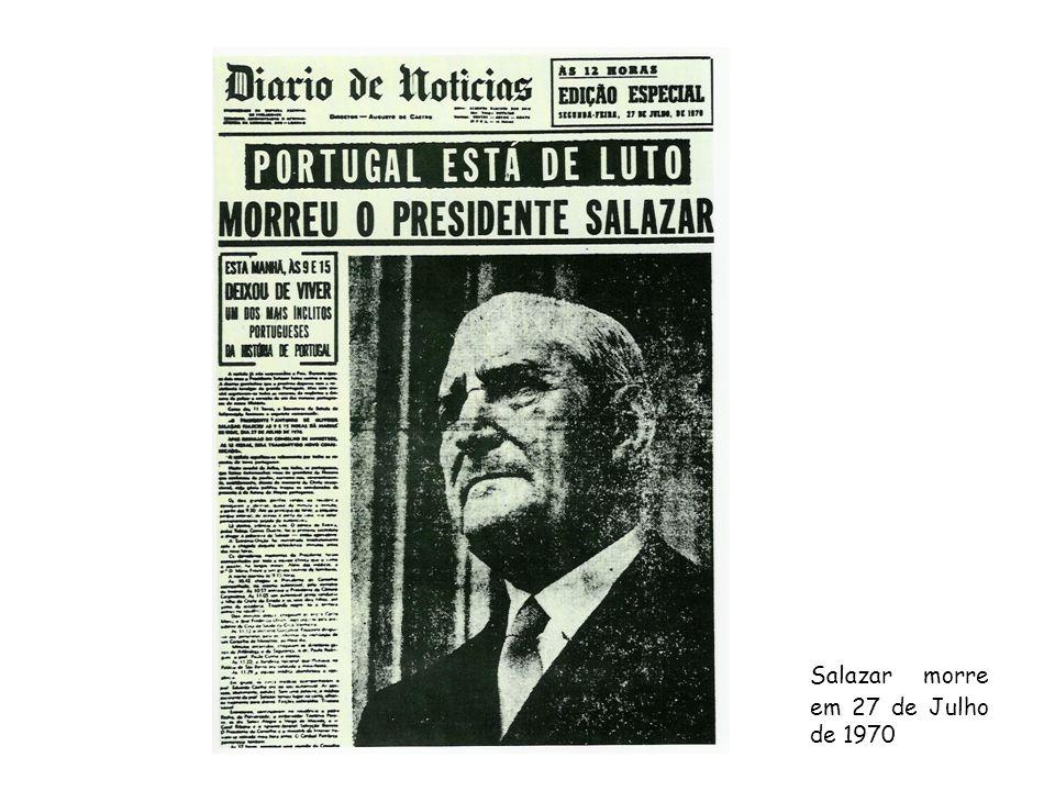 Salazar morre em 27 de Julho de 1970
