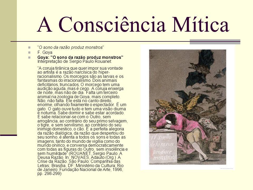 A Consciência Mítica O sono da razão produz monstros F. Goya Goya: