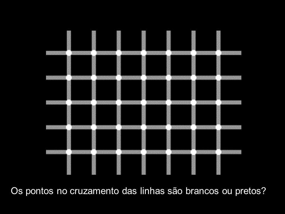 Os pontos no cruzamento das linhas são brancos ou pretos?