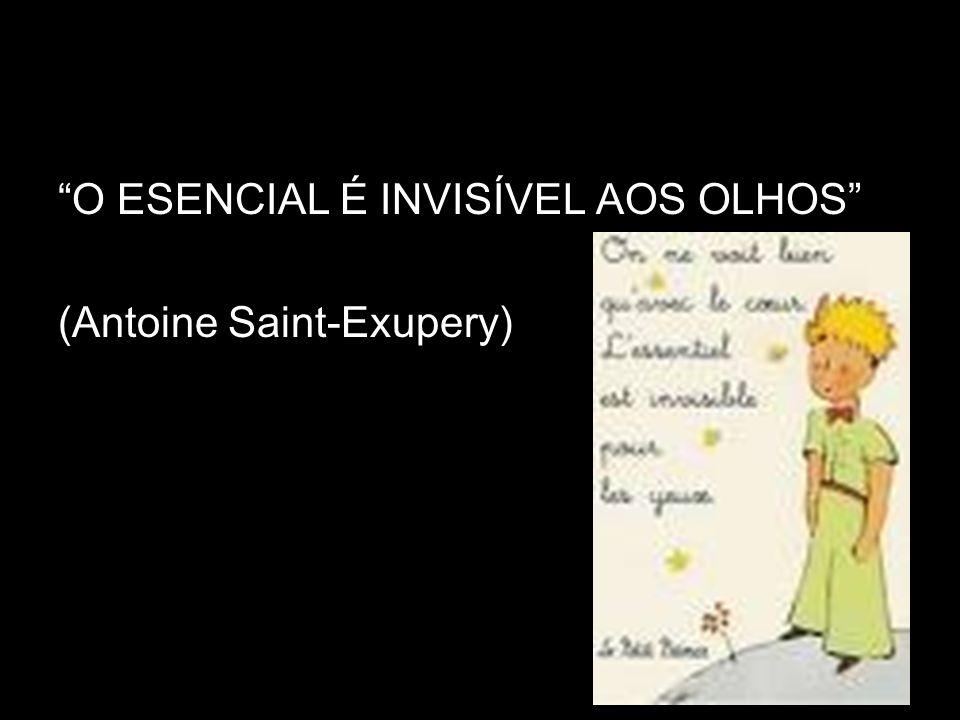 O ESENCIAL É INVISÍVEL AOS OLHOS (Antoine Saint-Exupery)