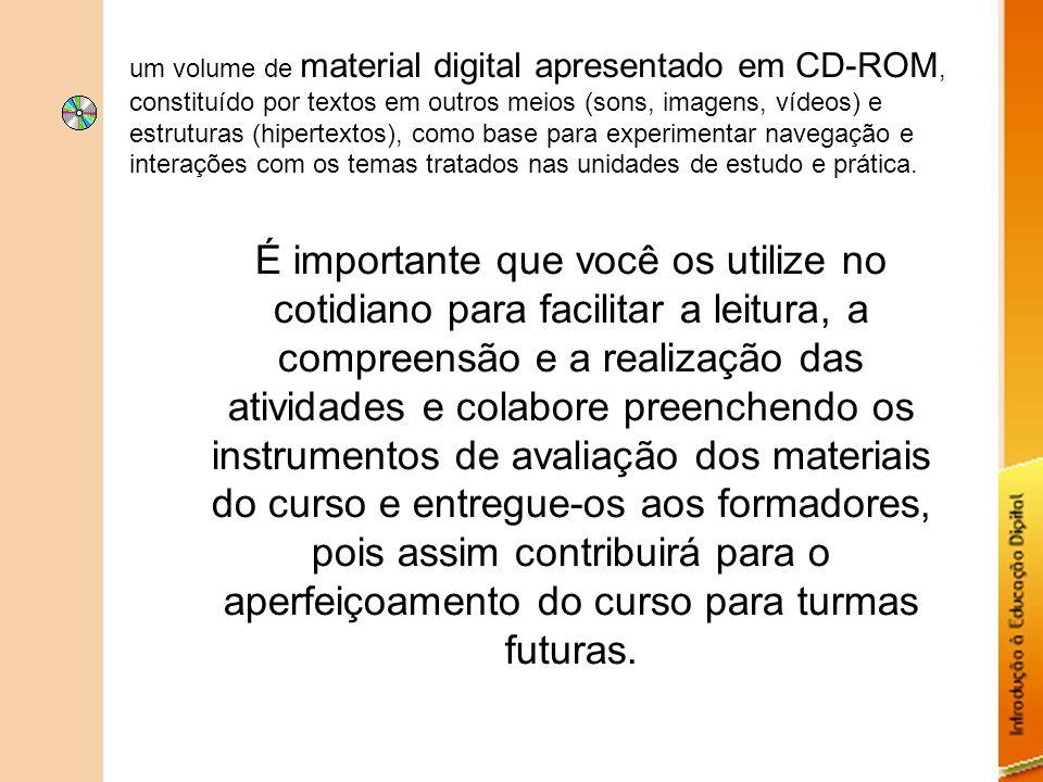 um volume de material digital apresentado em CD-ROM, constituído por textos em outros meios (sons, imagens, vídeos) e estruturas (hipertextos), como b