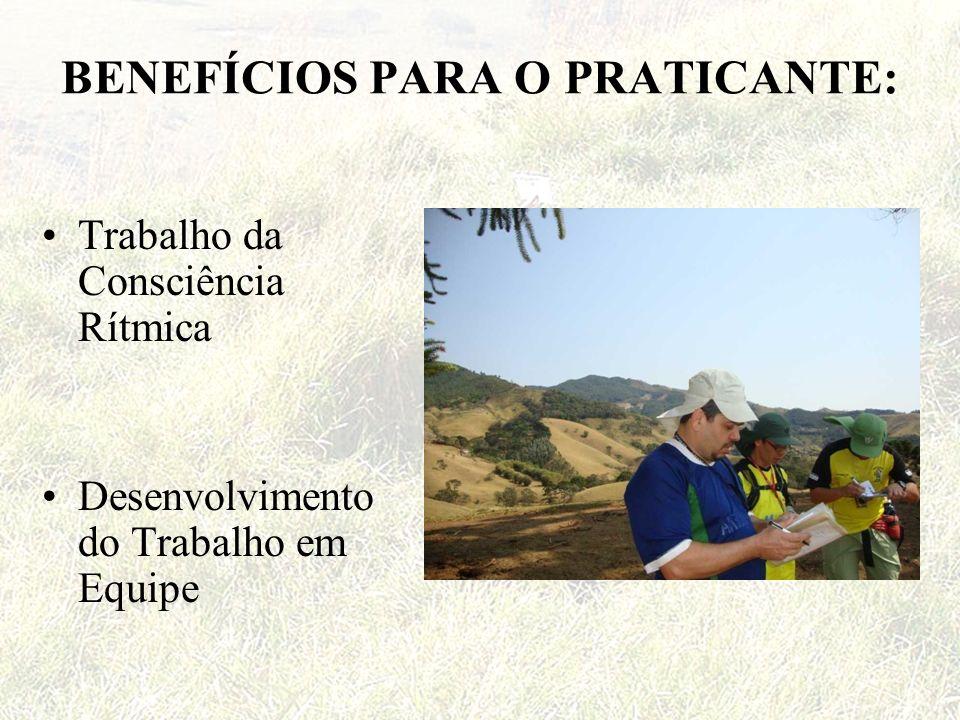 BENEFÍCIOS PARA O PRATICANTE: Trabalho da Consciência Rítmica Desenvolvimento do Trabalho em Equipe