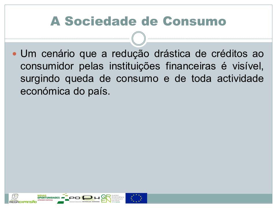 Um cenário que a redução drástica de créditos ao consumidor pelas instituições financeiras é visível, surgindo queda de consumo e de toda actividade e