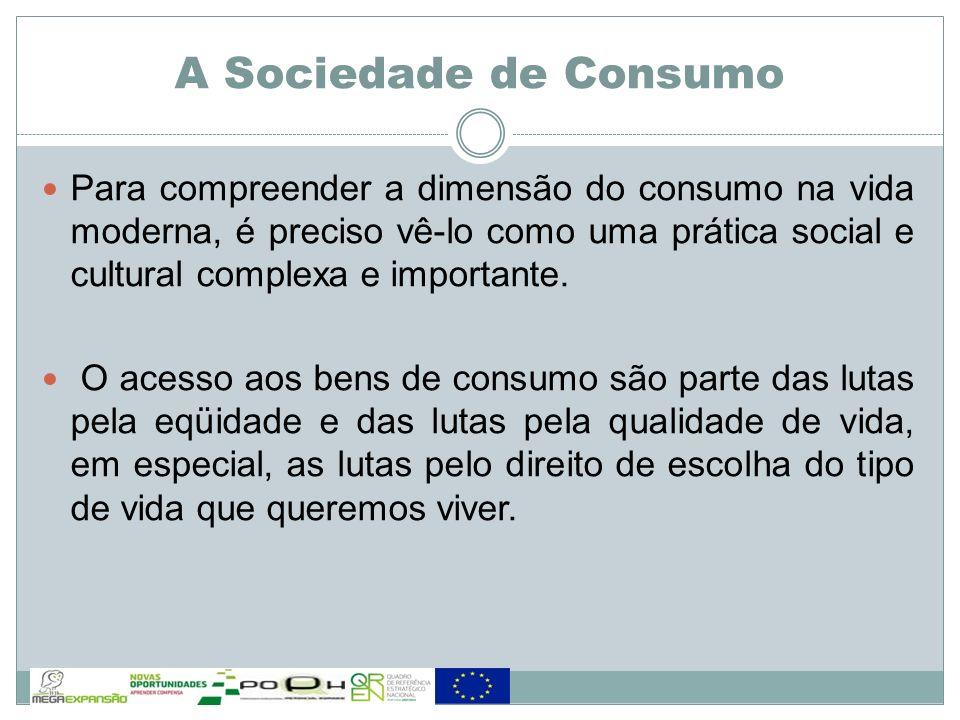Para compreender a dimensão do consumo na vida moderna, é preciso vê-lo como uma prática social e cultural complexa e importante. O acesso aos bens de