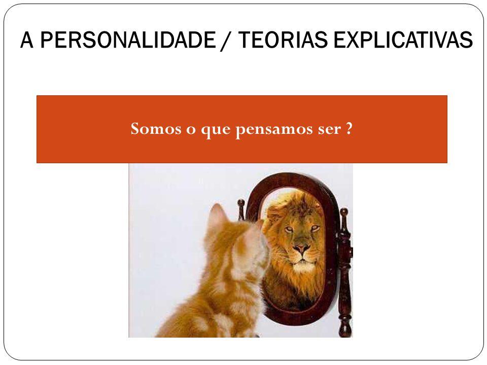 A PERSONALIDADE / TEORIAS EXPLICATIVAS Somos o que pensamos ser ?