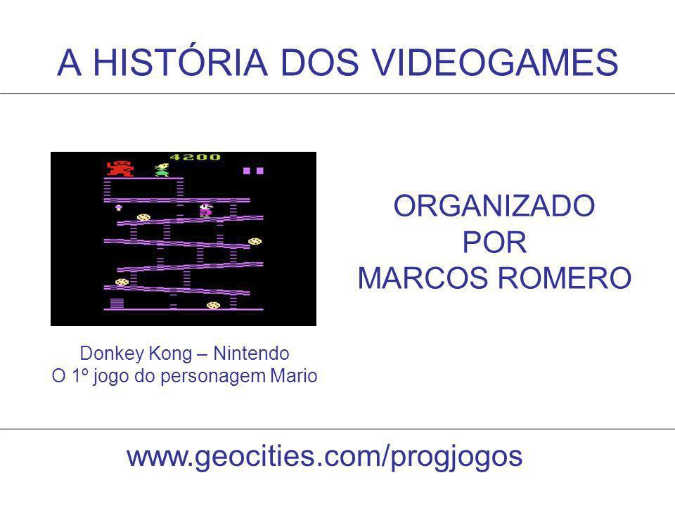 A HISTÓRIA DOS VIDEOGAMES Donkey Kong – Nintendo O 1º jogo do personagem Mario ORGANIZADO POR MARCOS ROMERO www.geocities.com/progjogos
