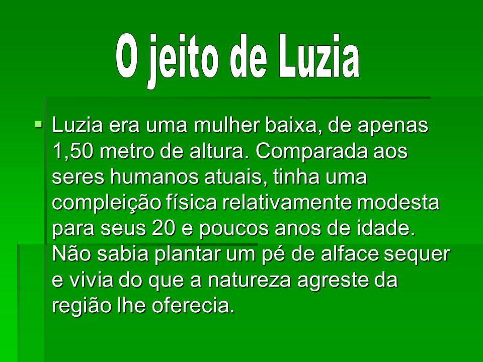 Luzia era uma mulher baixa, de apenas 1,50 metro de altura. Comparada aos seres humanos atuais, tinha uma compleição física relativamente modesta para