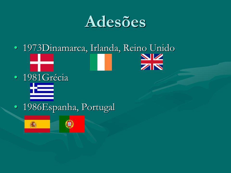 1995Aústria, Finlândia, Suécia1995Aústria, Finlândia, Suécia 2004Chipre, Eslováquia, Eslovénia, Estónia, Hungria, Letónia, Lituânia, Malta, Polónia, República Checa2004Chipre, Eslováquia, Eslovénia, Estónia, Hungria, Letónia, Lituânia, Malta, Polónia, República Checa