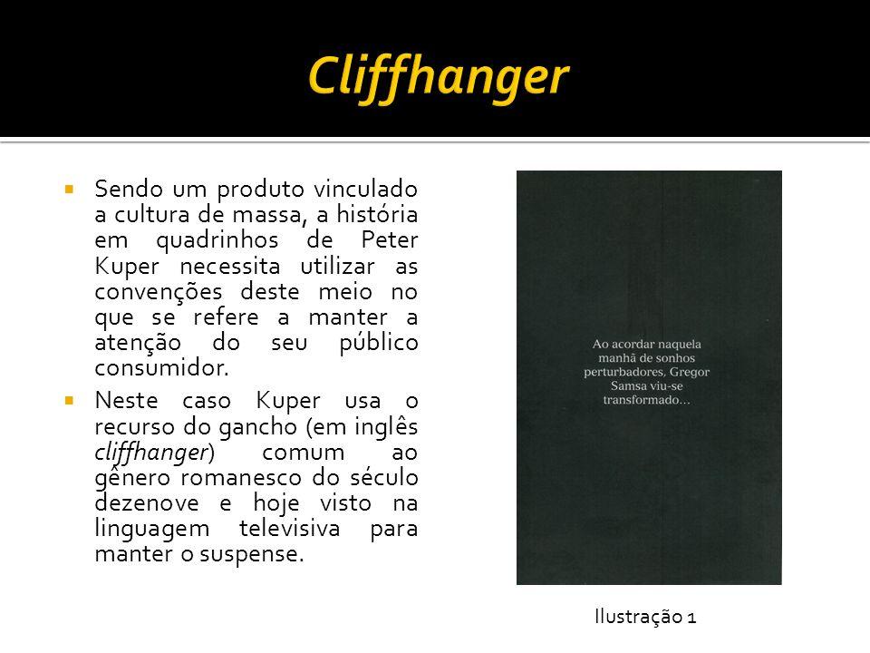 Na página inicial (página 11), como visto no slide anterior, Kuper faz uso do recurso visual da cor de fundo preta para ilustrar não apenas a noite de sonhos perturbadores de Gregor Samsa, mas também para marcar a atmosfera insólita de opressão que estrutura a novela.