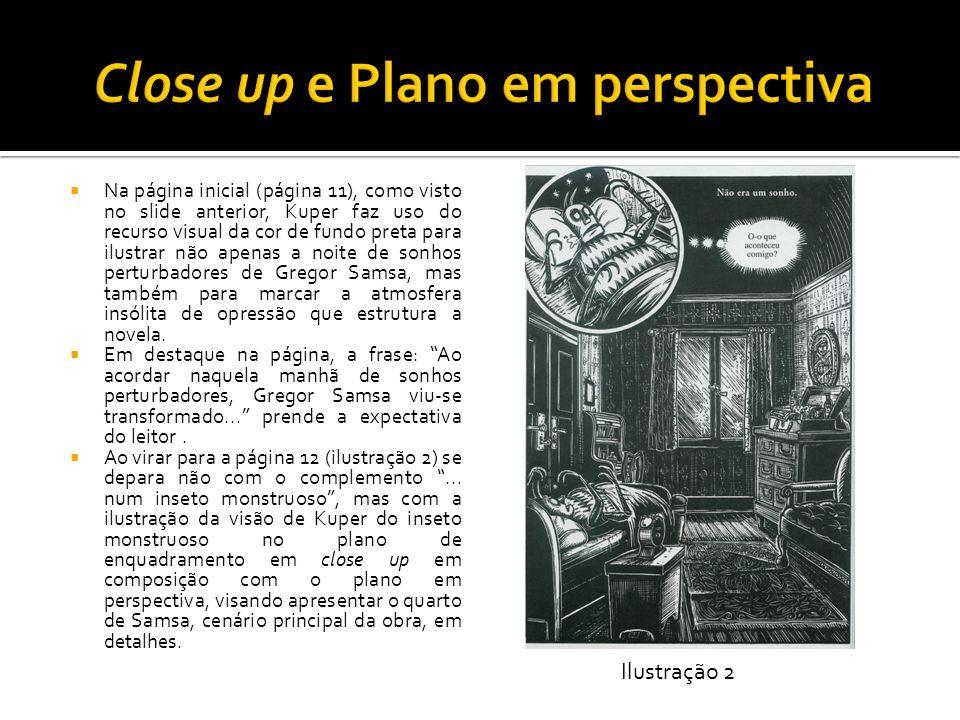 Na página inicial (página 11), como visto no slide anterior, Kuper faz uso do recurso visual da cor de fundo preta para ilustrar não apenas a noite de