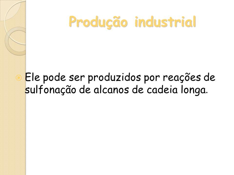 Produção industrial Ele pode ser produzidos por reações de sulfonação de alcanos de cadeia longa.