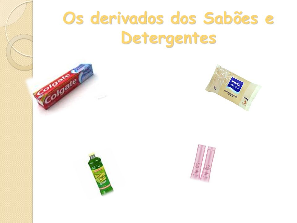 Os derivados dos Sabões e Detergentes