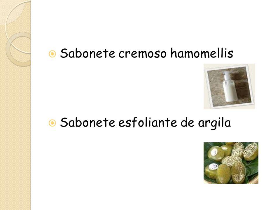 Sabonete cremoso hamomellis Sabonete esfoliante de argila