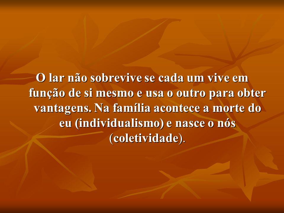 2- FAMILIA É UM CENTRO DE FORMAÇÃO PARA A VIDA.