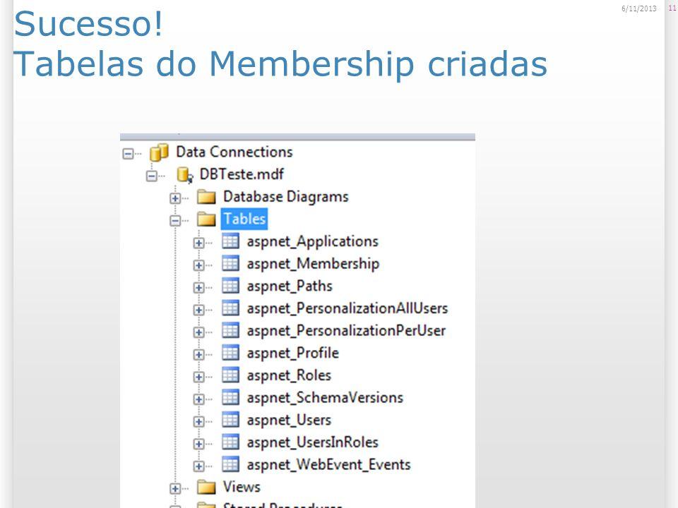 Sucesso! Tabelas do Membership criadas 11 6/11/2013
