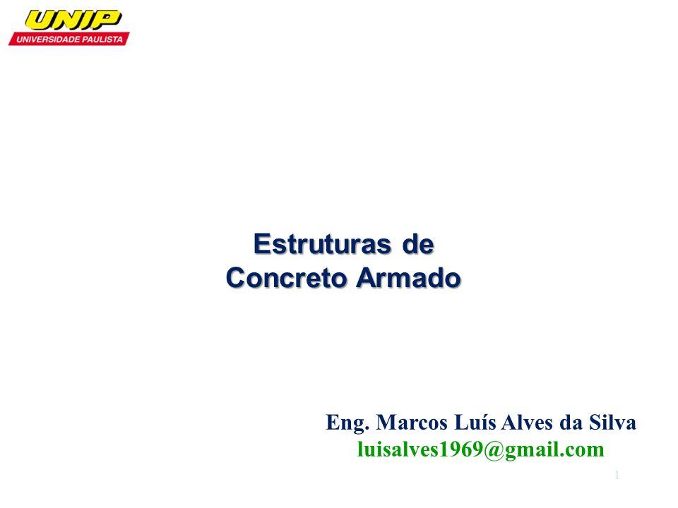 Eng. Marcos Luís Alves da Silva luisalves1969@gmail.com Estruturas de Concreto Armado 1