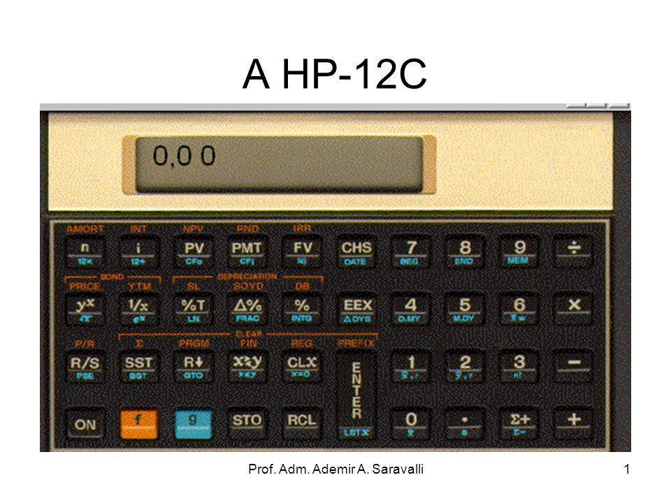 Prof. Adm. Ademir A. Saravalli1 A HP-12C