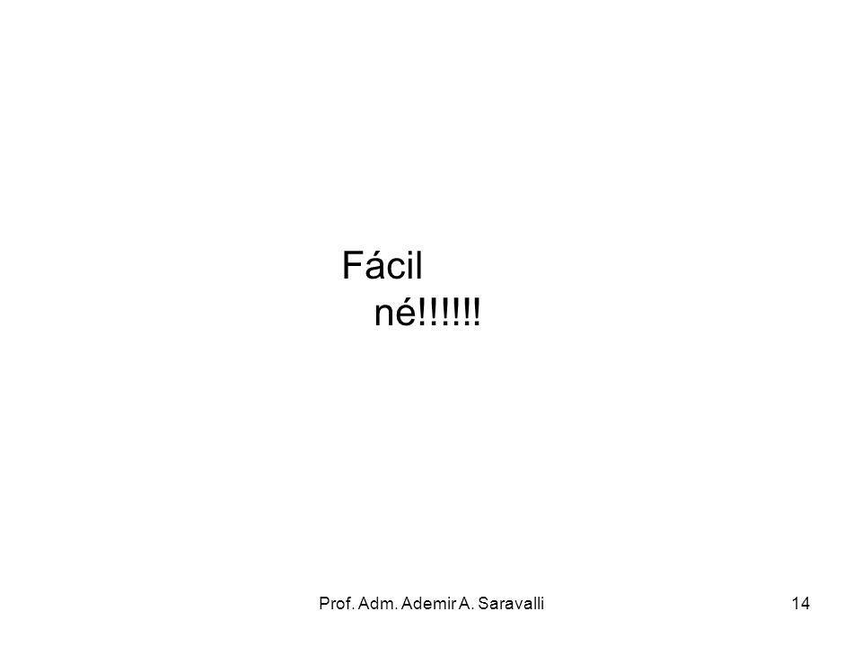 Prof. Adm. Ademir A. Saravalli14 Fácil né!!!!!!