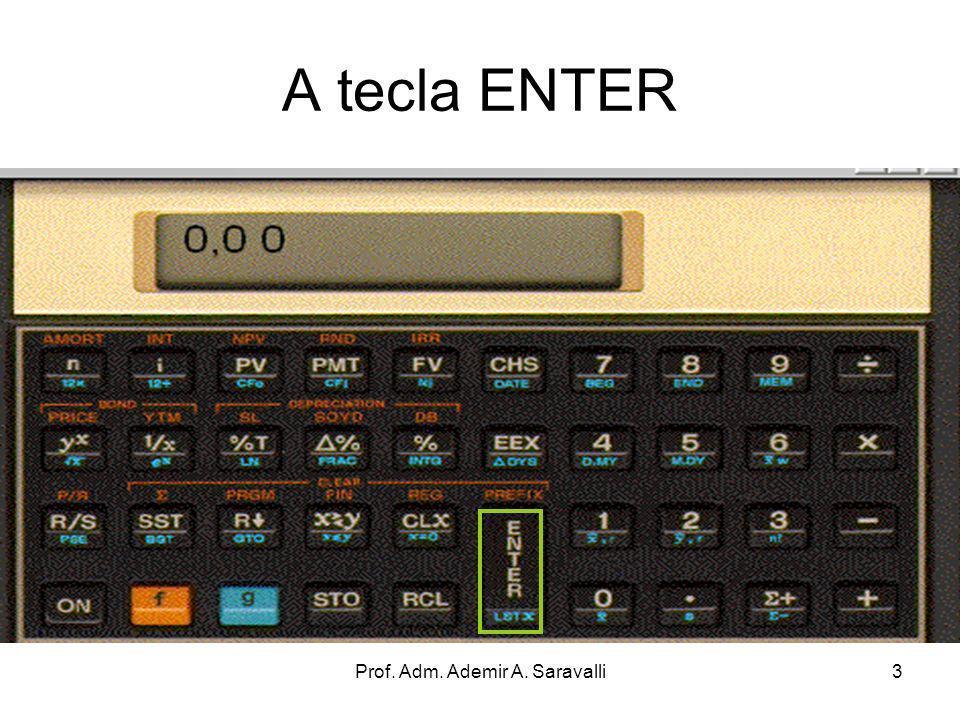 Prof. Adm. Ademir A. Saravalli24 Capítulo II Cálculo Aritméticos usando a Pilha Operacional
