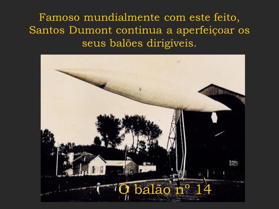 O balão nº 6 chega lá, faz um volteio em torno da Torre Eiffel, e volta no tempo certo. Santos Dumont ganha o Prêmio Deutsch !