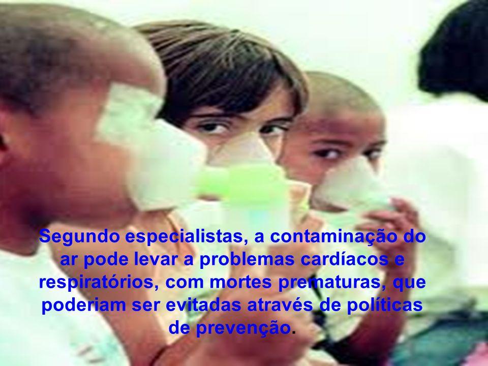 A poluição atmosférica é um grave problema de saúde ambiental.