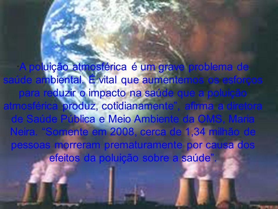 A poluição atmosférica é um grave problema de saúde ambiental. É vital que aumentemos os esforços para reduzir o impacto na saúde que a poluição atmos