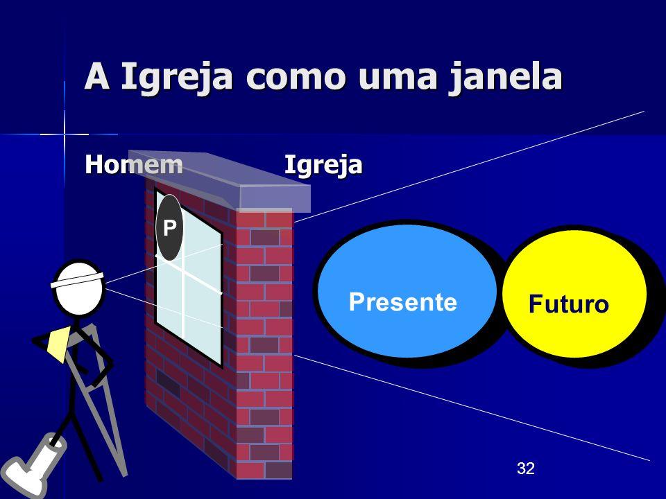 32 A Igreja como uma janela Homem Igreja Presente Futuro P
