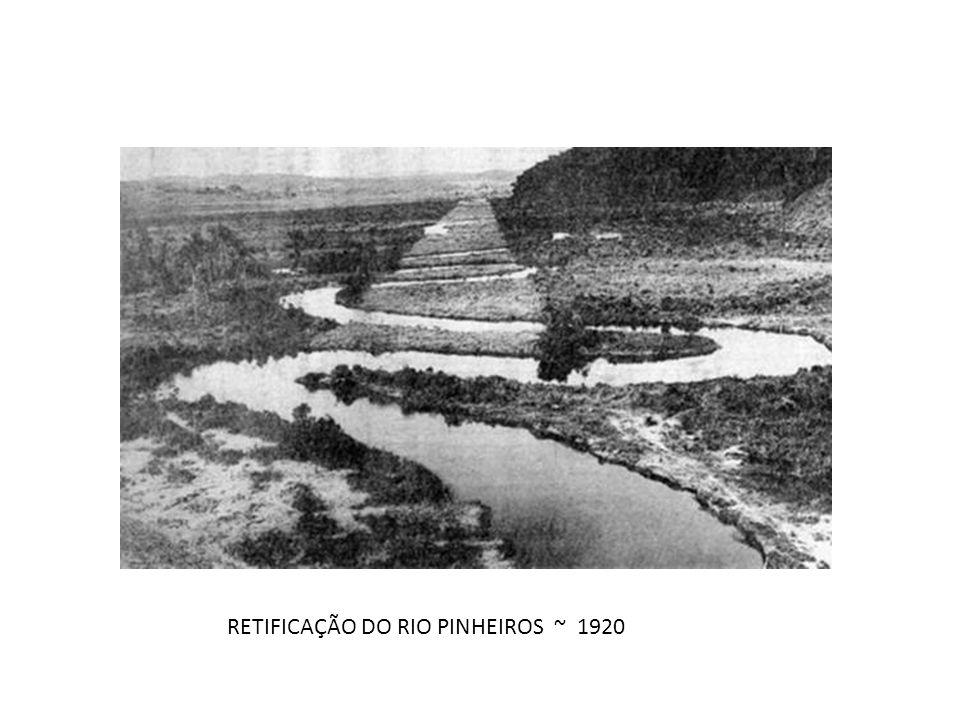 RETIFICAÇÃO DO RIO PINHEIROS ~ 1920