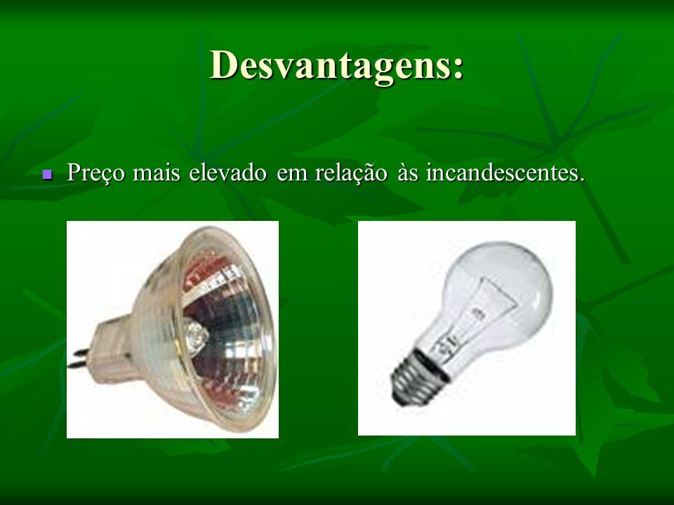 LOGO: Necessidade total de Lm = 30 x 300 = 9000 Lm Necessidade total de Lm = 30 x 300 = 9000 Lm Quantidade de lâmpadas = 9000/720 = 12.5 => 13 Quantidade de lâmpadas = 9000/720 = 12.5 => 13 Custo das lâmpadas = 13 x 0.75 = 9.75 Custo das lâmpadas = 13 x 0.75 = 9.75 Consumo de potência = 13 x 60 = 780 Wh Consumo de potência = 13 x 60 = 780 Wh Custo de Consumo = potência consumida x hora x numero de dias x custo de 1 KW = 780/1000 x 4 x 365 x 0.1211 = 138 Custo de Consumo = potência consumida x hora x numero de dias x custo de 1 KW = 780/1000 x 4 x 365 x 0.1211 = 138 Custo total = a custo inicial ( preço das lâmpadas) + custo Consumo = 9.75 + 138 = 147.75 Custo total = a custo inicial ( preço das lâmpadas) + custo Consumo = 9.75 + 138 = 147.75 Como o numero de horas de consumo ultrapassa as 1000 horas provavelmente teremos que substituir as lâmpadas, acrescentando mais 9.75, o que dá a quantia de 157.50.