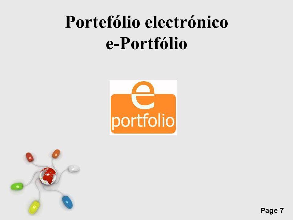 Free Powerpoint Templates Page 7 Portefólio electrónico e-Portfólio