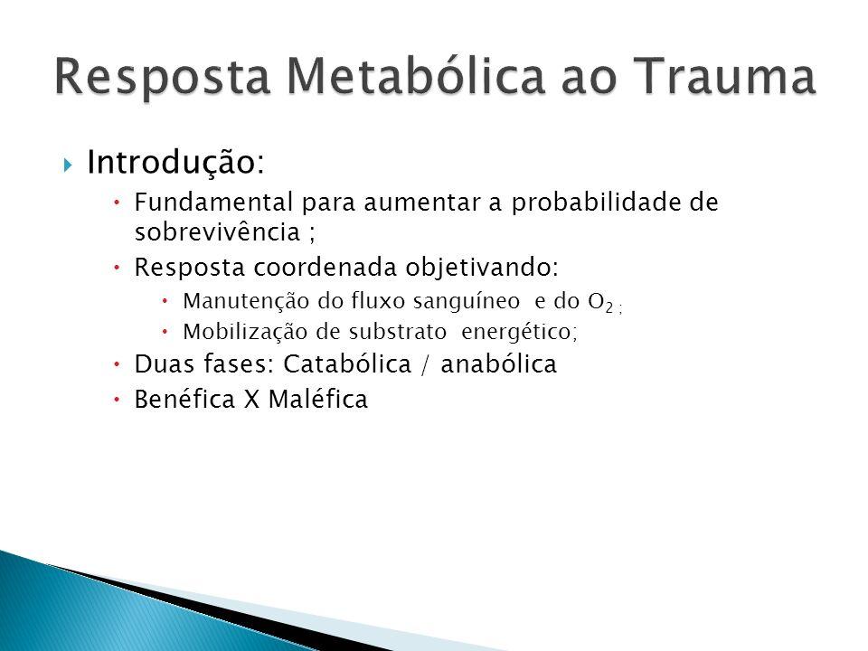 Introdução: Fundamental para aumentar a probabilidade de sobrevivência ; Resposta coordenada objetivando: Manutenção do fluxo sanguíneo e do O 2 ; Mob