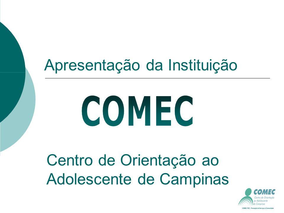 Apresentação da Instituição Centro de Orientação ao Adolescente de Campinas