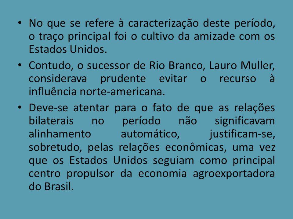 A política de cooperação com os Estados Unidos não se restringiu ao período em tela, alcançou a década de 50, caracterizando uma nova direção para a diplomacia brasileira advindas da Proclamação da República.