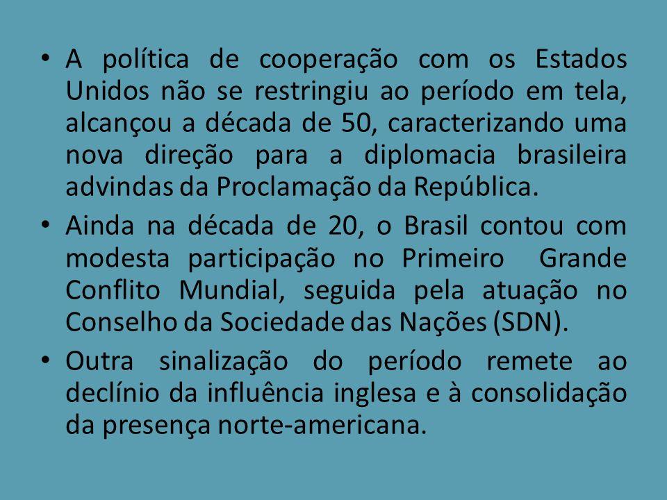 A participação do Brasil na Primeira Guerra Mundial (1914-1918) é relevante para a compreensão das expectativas em torno da política externa.