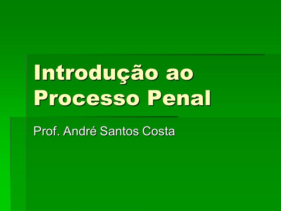 Introdução ao Processo Penal Prof. André Santos Costa