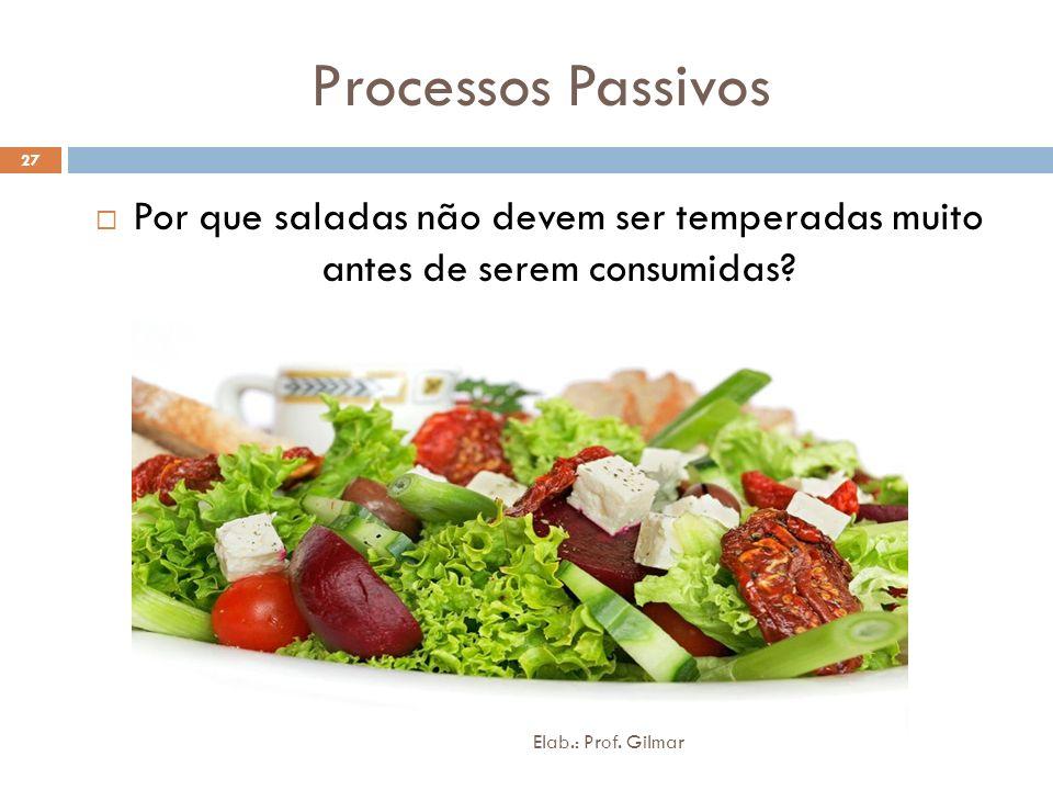 Processos Passivos Por que saladas não devem ser temperadas muito antes de serem consumidas? 27 Elab.: Prof. Gilmar