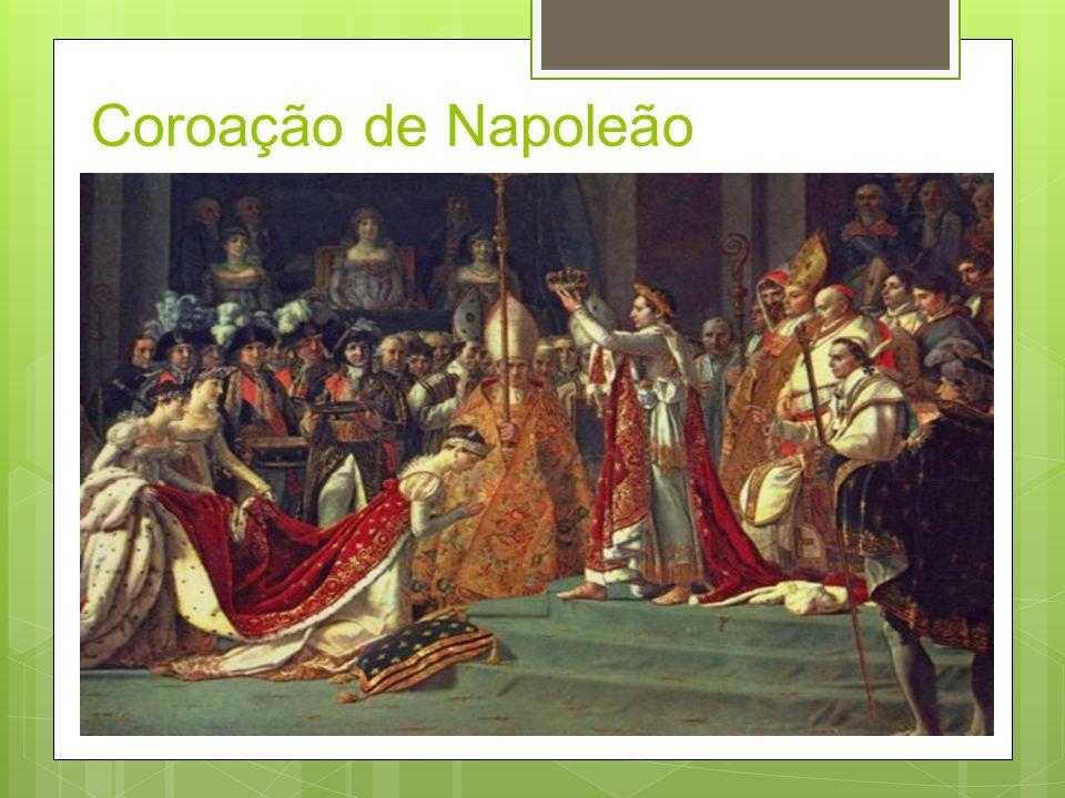 Império Napoleônico Após 5 anos de governo Napoleão tornou-se cônsul vitalício, em seguida imperador.